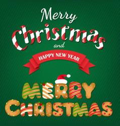 xmas gingerbread cookie text vector image vector image