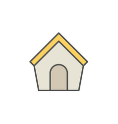 doghouse colorful icon vector image