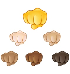 fisted hand sign emoji vector image vector image