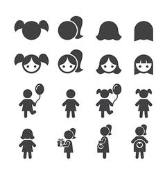 girl icon vector image vector image