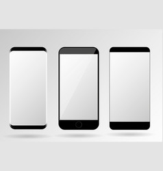 mobile phones mockup blank screen set vector image vector image