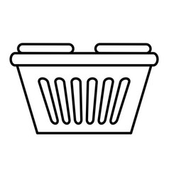 shopping basket isolated icon vector image vector image