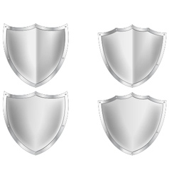 Silver shield collection vector image