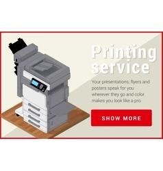Copier printer isometric flat 3d vector image vector image