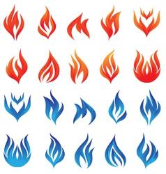 fire set vector image