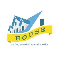 House logo design template Realty theme icon vector image vector image