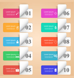 infographic design list of 10 items vector image vector image