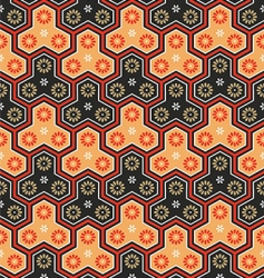 Japanese seamless pattern vector image vector image