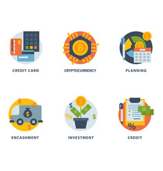 money finanse banking safety icons business vector image