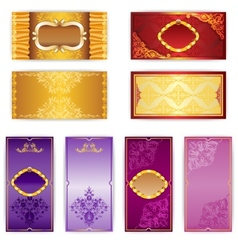 Set of elegant template luxury invitation vector image