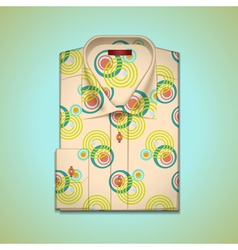 shirt into a large pattern vector image vector image
