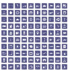 100 loader icons set grunge sapphire vector image