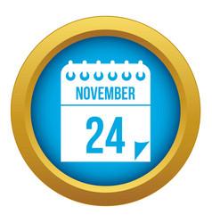 24 november calendar icon blue isolated vector image