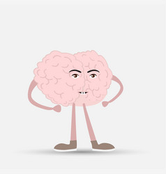 a human brain of pink color inspiration cartoon vector image