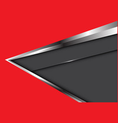 abstract silver arrow on red with dark gray vector image