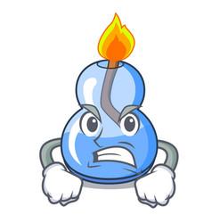 angry alcohol burner mascot cartoon vector image