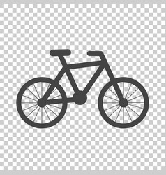 bike silhouette icon on isolated background vector image