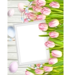 Blank picture frame on white EPS 10 vector image