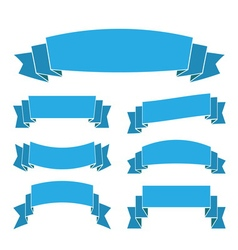 blue ribbon banners vector image