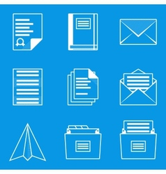 Blueprint icon set Paper 2 vector