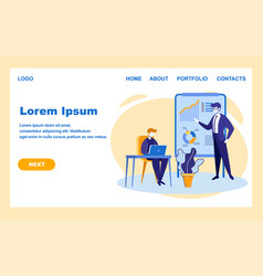 Business coach or leader show learning information vector