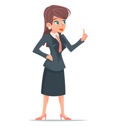businesswoman cute female manager creative vector image