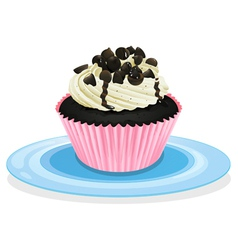 Cake in a dish vector