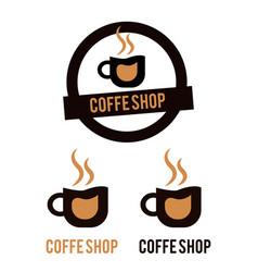 Coffe shop logo vector