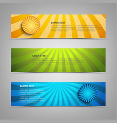 Collection banners with colorful abstract circular vector