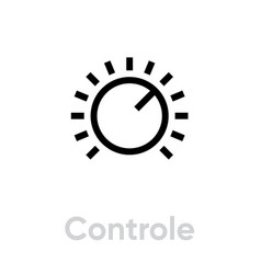 control icon editable outline vector image