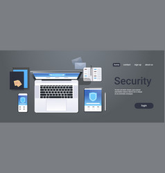 data protection internet security shield privacy vector image