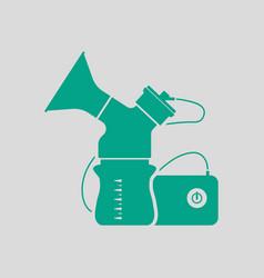 Electric breast pump icon vector