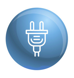 electric plug icon outline style vector image