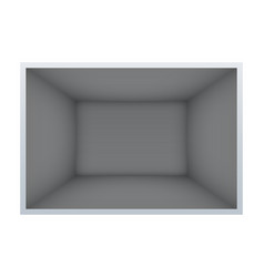 Example of empty dark room vector