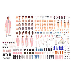 fashionable young girl creation set or diy kit vector image