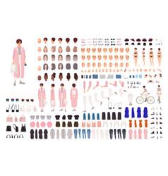 Fashionable young girl creation set or diy kit vector