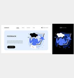 feedback concept landing page vector image