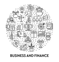 Finance and business profit earning and vector