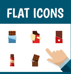 Flat icon bitter set of shaped box sweet wrapper vector