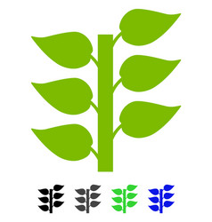 Flora plant flat icon vector