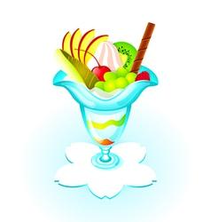 fruit parfait vector image
