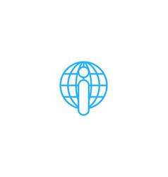 globe letter i logo icon design vector image