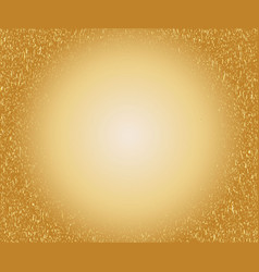 gold speckled background with glowing circle vector image