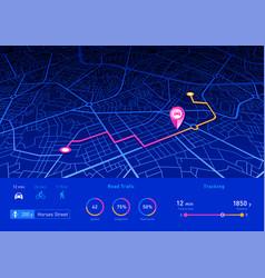 gps navigator pin blue color mock up vector image