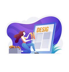 graphic design creative designer agency idea vector image