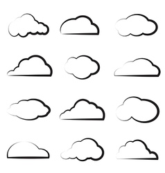 group clouds vector image