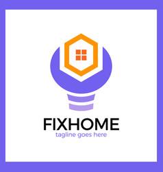 House repair logo vector
