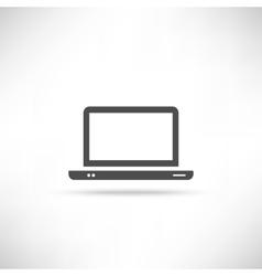 icon computer empty vector image