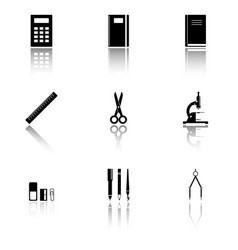 Image of school supplies icons that should always vector
