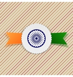India flag on realistic emblem vector